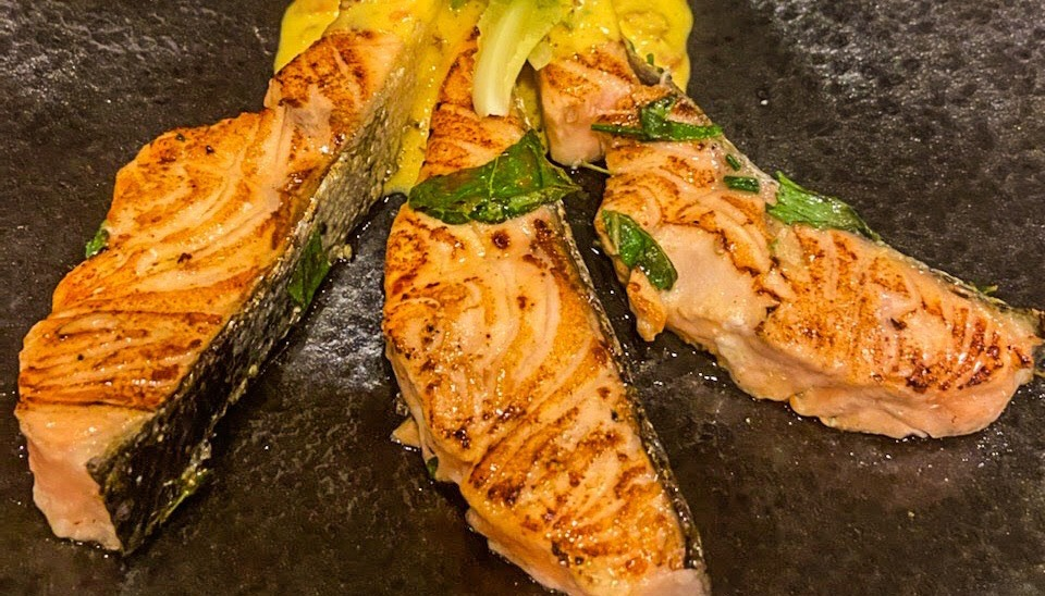 Salmon With Creamy Mustard Sauce