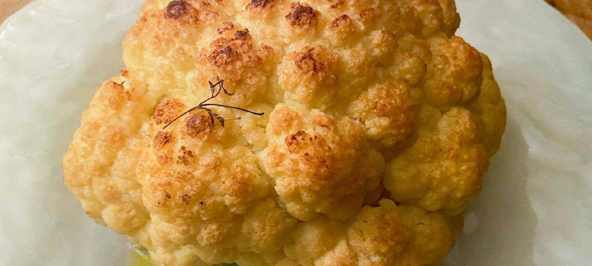 "Whole Roasted Cauliflower ""Cacio ePepe"""